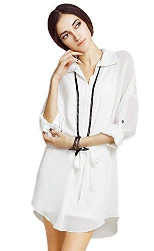 Kleid Insun Weiß Weiß Insun Weiß Kleid Damen Weiß Insun Damen Kleid Weiß Damen Weiß q4wFPTn