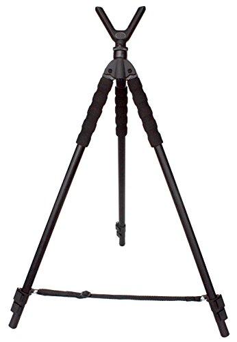 (Leader Accessories Lightweight Aluminum Alloy Shooting Stick Tripod Height Adjustable, 19.5