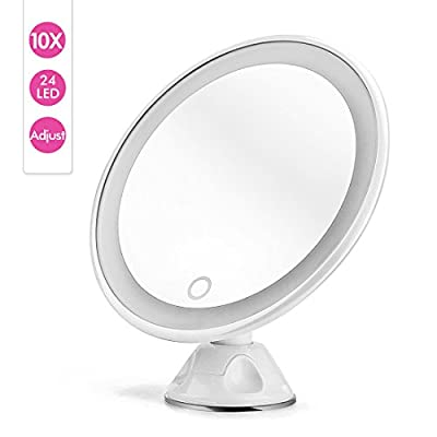 Upgraded Magnifying Lighted Makeup Mirror - Natural Daylight LED Bathroom or Desktop Vanity Mirror - Cordless, Compact and Portable Mirror