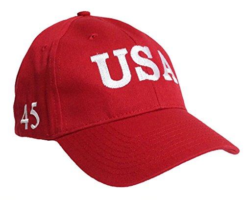 Trenz Shirt Company Bayside Trump 45th USA Presidential Inauguration Hat-Red (Christmas Bayside)