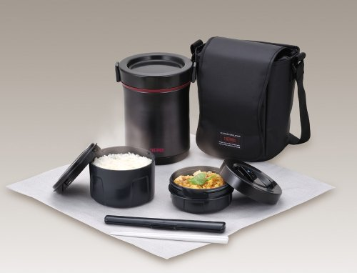 Thermos hot lunch heat retention lunch bento box set jbe for Zaffron kitchen set lunch