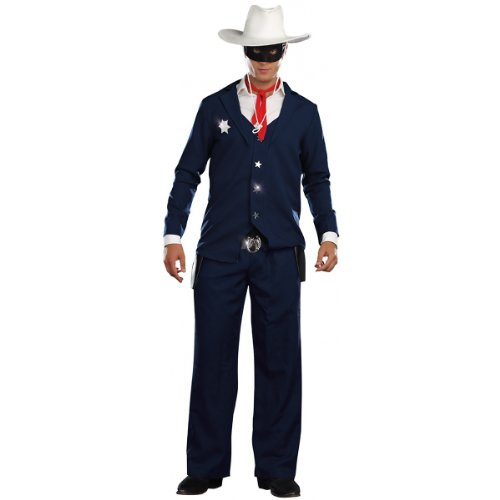 Dreamgirl, Lone Cowboy, Navy, Medium (Lone Cowboy Adult Costume)