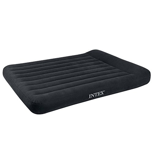 Intex Pillow Rest Classic Airbed with Built-in Pillow and Electric Pump, Full