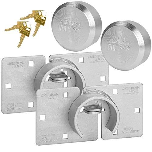 American/Master Lock (2) Keyed Alike Hidden Shackle and Hasp Combo A801 - A2010NKA-2 w/Bumpstop Technology