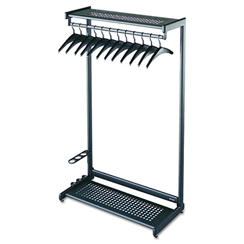Quartet Two-Shelf Garment Rack, Freestanding, 36 Inch, Black, 12 Hangers Included (20225)