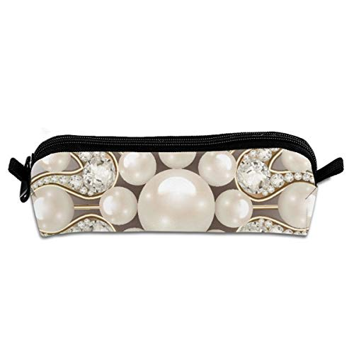 Mandala Brooch Jewelry Design Element Pearl Beauty Pencil Case Pen Bag Pouch Stationary Case Makeup Cosmetic Bag