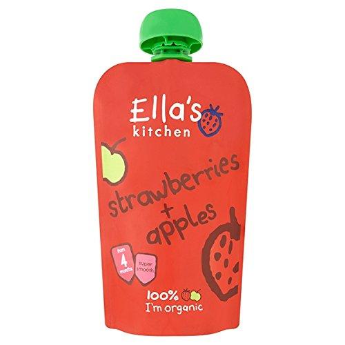 Ella's Kitchen Organic Strawberries + Apples Pouch 4+ Months 120g (Pack of 7 x 120g) Ella' s Kitchen