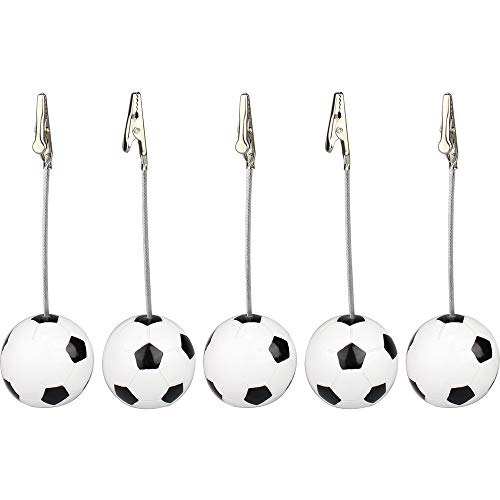 DeemoShop Lot 5pcs Football BSE Alligator Wire Photo Clip, Memo Holder, Table Place Card Clamp, World Cup Game Event Display, Meeting ()