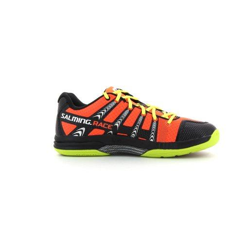 Handballschuhe Salming Race R1 fluo orange fluo gelb
