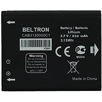 New BELTRON Replacement Battery for Alcatel OT-880a aVengeance CAB3120000C1