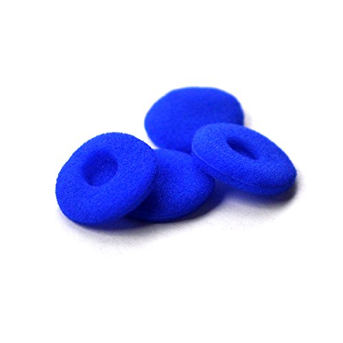 (12 Pack(24pcs) Foam Earbud Earpad Replacement Sponge Covers for Earbuds (Blue))