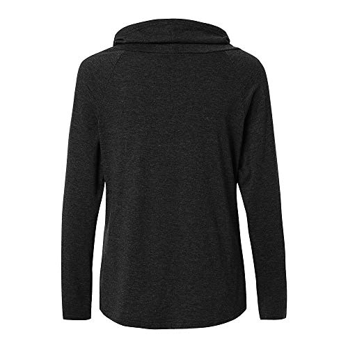 DOLDOA Loose Shirt Womens Cardigan Warm Tops T Long Fashion Sleeve Patchwork Casual Knitted Sweater Black ggRr0
