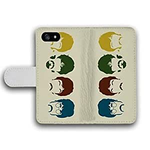 WQQ The Face Pattern PU Leather Full Body Case with Card Slot for iPhone 4/4S