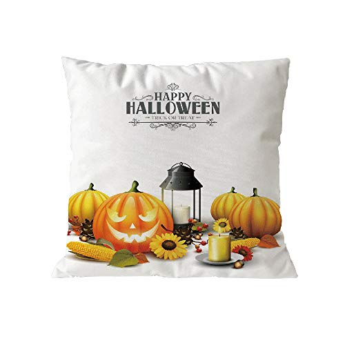 Halloween Pillow Case Pgojuni Throw Pillow Cover Cushion Polyester Cover Pillow Case Home Decor 1pc (45cm X 45cm) (A) by Pgojuni_Pillowcases (Image #1)