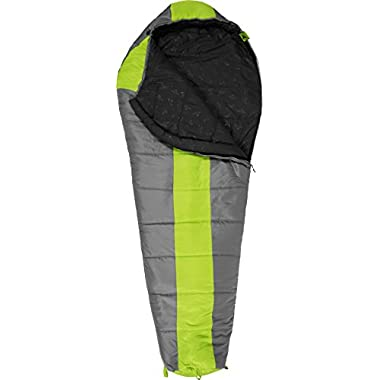 TETON Sports Tracker  5F Ultralight Sleeping Bag, Green/Grey