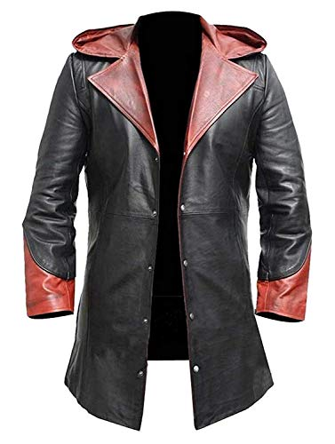 Dante DMC Devil May Cry 4 Coat Game Costume Faux Leather Jacket (Dmc Dante Coat)