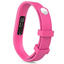 """Fitbit Flex 2 Band, MoKo Soft Replacement Sport Strap Band with Clasps for Flex 2 Wireless Activity Bracelet Wristband, Wrist Length 5.70""""-8.46"""", Large Size, No Tracker, Barbie PINK"""