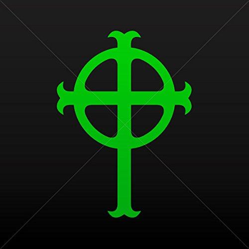 Religion Various sizes Sticker Ireland Celtic High Cross Graveyard Tablet Laptop Wa Green (5 X 3.6 Inches) ()