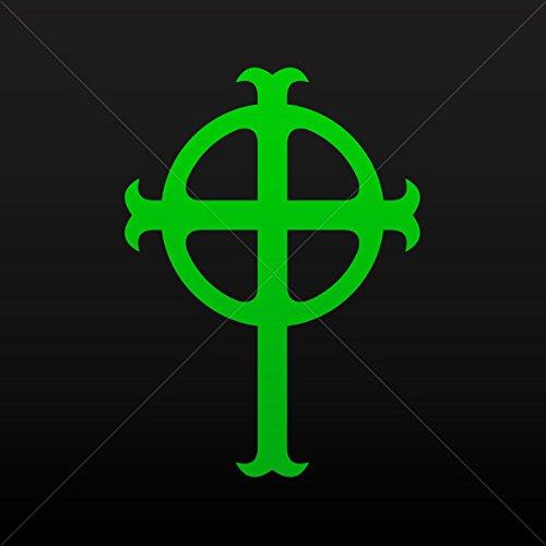Sticker Ireland Celtic High Cross Graveyard Tablet Laptop Wa Green (5 X 3.6 Inches) ()