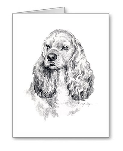 Cocker Spaniel - Set of 10 Dog Note Cards With Envelopes