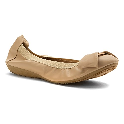 "Wanted ""Windfall"" Elasticized Ballerina Flat - (Nude, 9)"