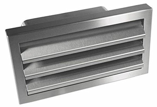 Abzugshaube Edelstahl Außengitter 125-er Soft Flachkanal 150x70mm Abluft Air-Tec