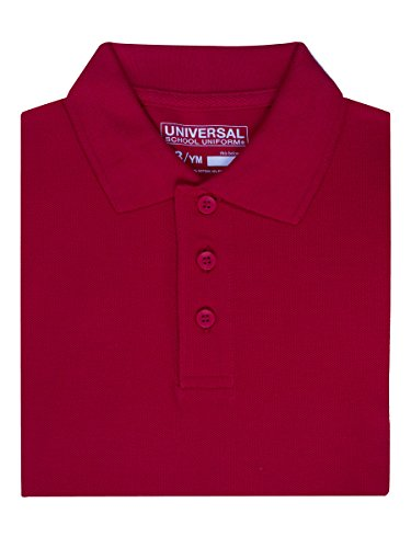 Universal Little Boys' S/S Pique Polo - red, 5