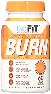 BeFit Burn Premium Fat Burner without Jitters Advanced Metabolism Booster, 60 Count