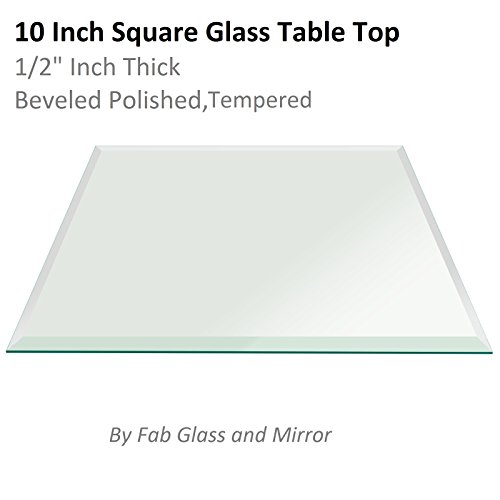 Fab Glass and Mirror Square Clear Glass Table Top 10