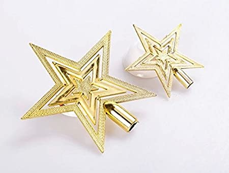 a29ad32f8286 Ocamo Christmas Tree Decoration Gold Topper Star Ornament Jewelry Small  1pcs: Amazon.co.uk: Kitchen & Home