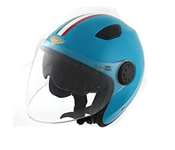 Amazon.es: Casco para moto, scooter, Jet Flash Evo Old Italia, de fibra, con homologación ECE 22.05 E3, Project FE02 FE03 con doble visera XS - 54CM ...