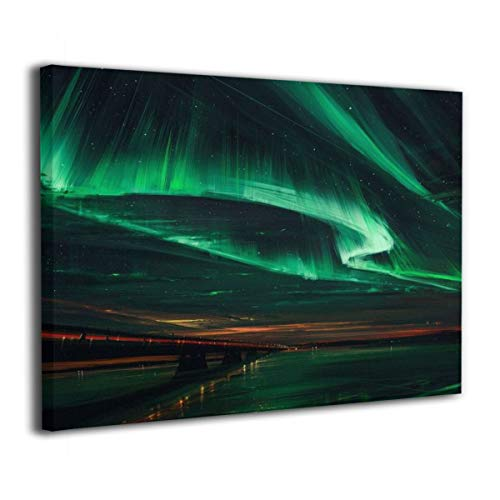- Henry Huxley Wall Art Decor Painting On Canvas Print, Aurora Stretched and Frameless,for Kitchen Living Room Bedroom Decoration Home Office Wall Posters 16x20 Inch