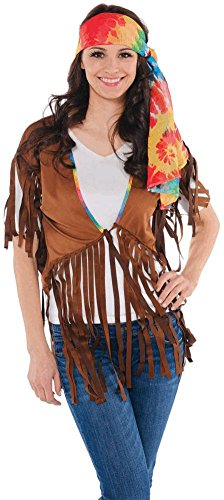 womens hippie vest (Slutty Hippie Costumes)