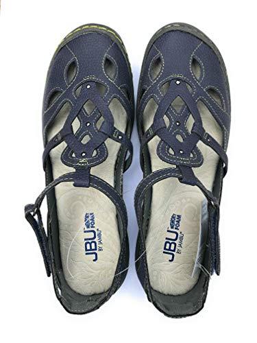 JBU by Jambu Ladies' Sydney Sandal/Flat Sandals for Women (7.5 M US, Denim/Blue)