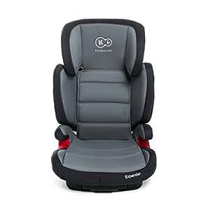 Kinderkraft de expansión Booster Isofix asiento de coche para niños (grupo 2/3, 15–36kg, Gris)
