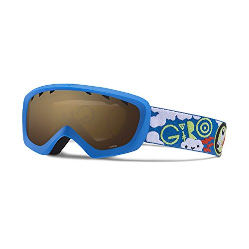 Giro Chico Kids Snow Goggles Blue/Lime Space - Amber Rose (Small Goggles)