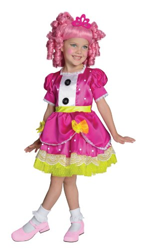 Deluxe Jewel Sparkles Girls Costumes (Lalaloopsy Deluxe Jewel Sparkles Costume, Small)