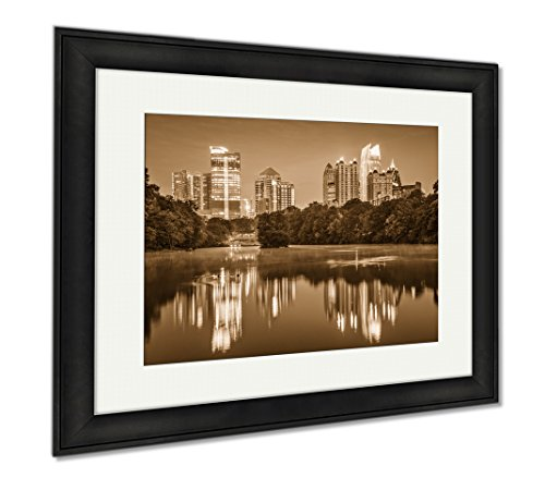 Ashley Framed Prints Atlanta Georgia Usa At Piedmont Park  Office Home Kitchen Decor  Sepia  30X35  Frame Size   Black Frame  Ag6320935