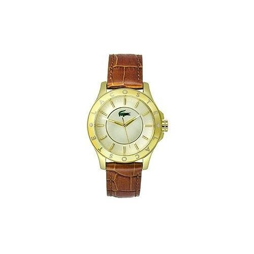 Lacoste Madeira Three-Hand Brown Leather Strap Women's watch #2000861