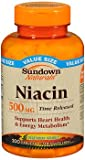 Sundown Naturals Niacin 500 mg Time Release Caplets - 200 ct, Pack of 6