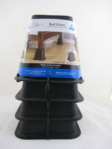 Review Mainstays Bed Risers 4