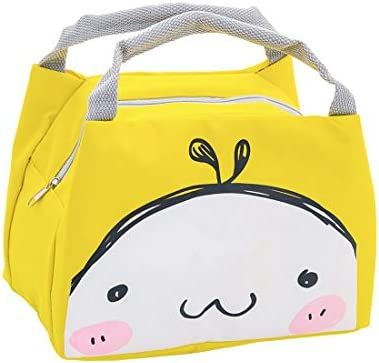 Oyachic Bolsa Termica Bolsas de Almuerzo Lunch Bag Linda Mascota Bolsas de Cremallera Bolsa de Tela Algodon Merienda Impermeable Portátil (cara de la ...