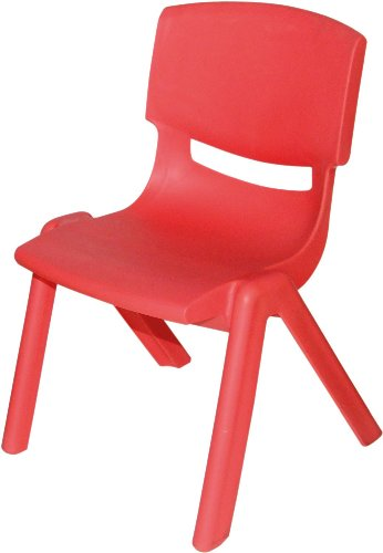 Bieco 04000005 - Kinderstuhl aus Kunststoff, rot