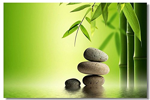20'' x 32'' indoor Outdoor Front Door Bathroom Mats Zen Stone Garden Rocks Spa Bamboo Fountain Japan 23 by YISUMEI