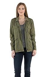 VELVET BY GRAHAM & SPENCER Women\'s Army Jacket, Forest, Medium