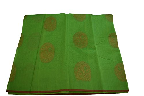 mple wear Saree Set with zari Peacock Design/Green Color. ()