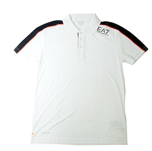 まろやかな体操バンド[アルマーニ] ポロシャツ ホワイト メンズ ゴルフ エンポリオアルマーニ EA7 A-2510 [並行輸入品]