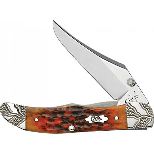 - Case 53224 Autumn Bone Handle Standard Jig Mid Folding Hunter Knife