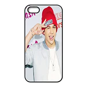 Cute Austin Mahone Case For Sam Sung Galaxy S5 Cover Case, Anti-Slip Case Case For Sam Sung Galaxy S5 Cover Girls Protective Stevebrown5v {Black}