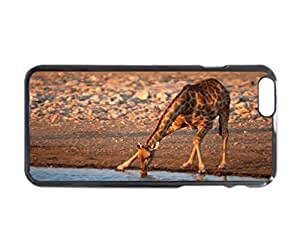 iPhone 6 Case - Drinking Giraffe Patterned Protective Skin Hard Case Cover for Apple iPhone 6 4.7